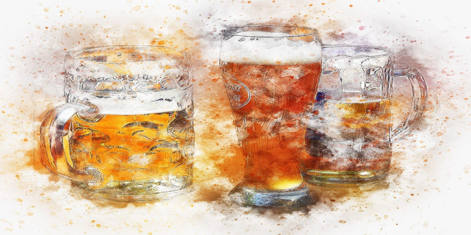 pivo watercolor